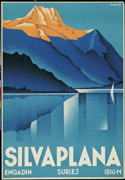 Tranquility Painting - Poster For Silvaplana, By Johannes by Mondadori Portfolio