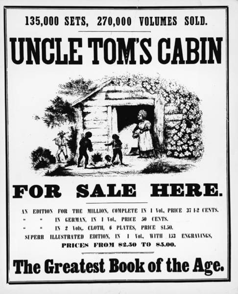 Wall Art - Photograph - Poster For Uncle Toms Cabin by Kean Collection