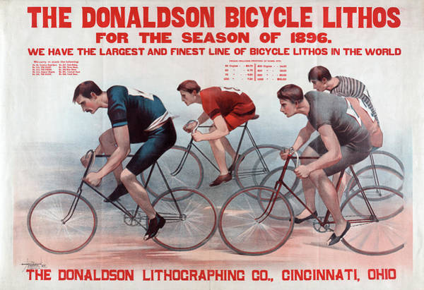 Bicycle Photograph - Poster Of Bicycle Racers by Graphicaartis