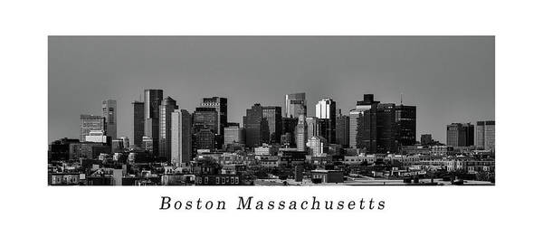 Photograph - Poster Of The Skyline Of Boston In Massachusetts, Usa by Kyle Lee