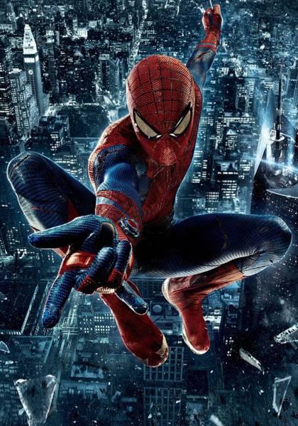 Spider Digital Art - Poster The Amazing Spider Man 2 - Homem Aranha by Geek N Rock