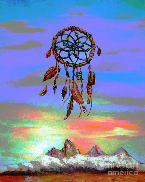 Digital Art - posterized Sweet Dreams Tetons by Shelley Myers