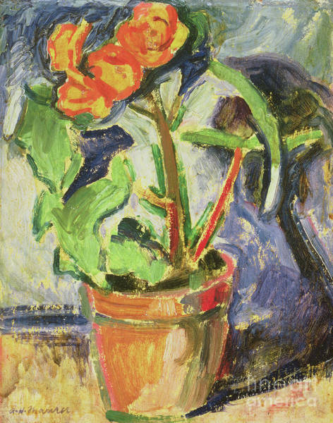 Wall Art - Painting - Pot Of Flowers by Alfred Henry Maurer