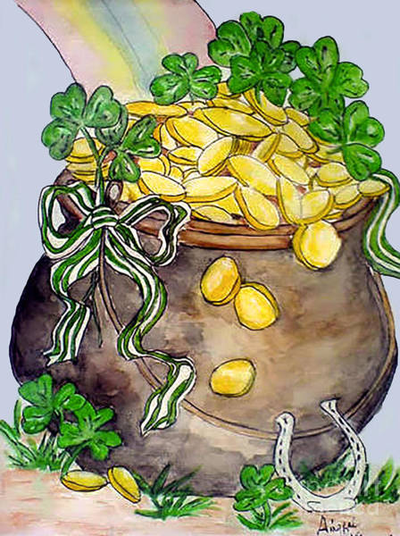Painting - Pot-of-gold by Aingeal Rose
