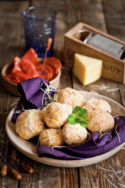 Buns Photograph - Potato  Cheese Buns by Verdina Anna