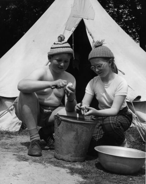 1961 Photograph - Potato Duty by Fred Morley