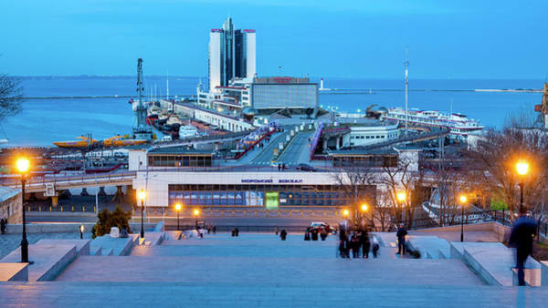 Photograph - Potemkin Stairs And The Odessa Sea Port by Fabrizio Troiani