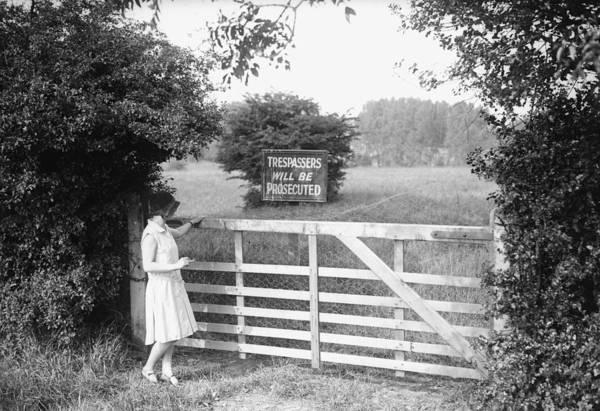 Reportage Photograph - Potential Trespass by Fox Photos