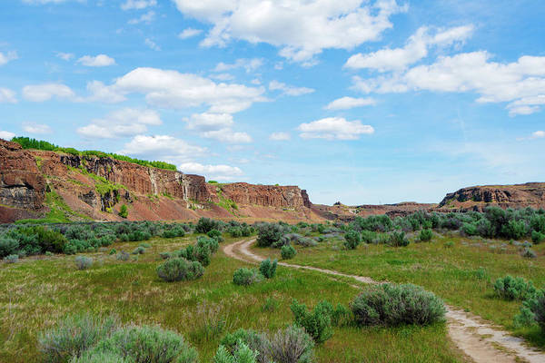 Digital Art - Potholes Coulee Along The Trail To Ancient Lake by Michael Lee