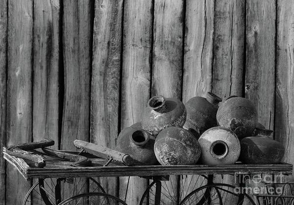 Benidorm Wall Art - Photograph - Pots Still Life Bw by Eddie Barron