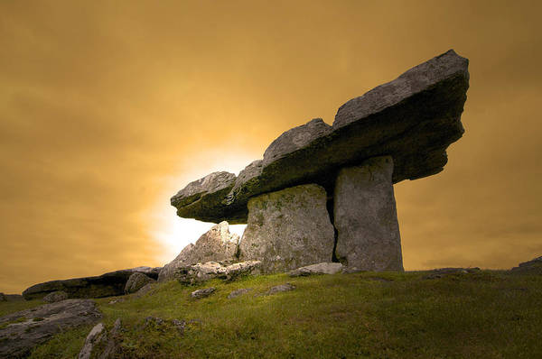 The Burren Photograph - Poulnabrone  Dolmen   Burren Ireland by //tom O Hare// Images//