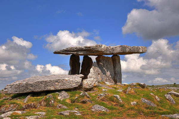 The Burren Photograph - Poulnabrone Dolmen by Photography By Robert Riddell