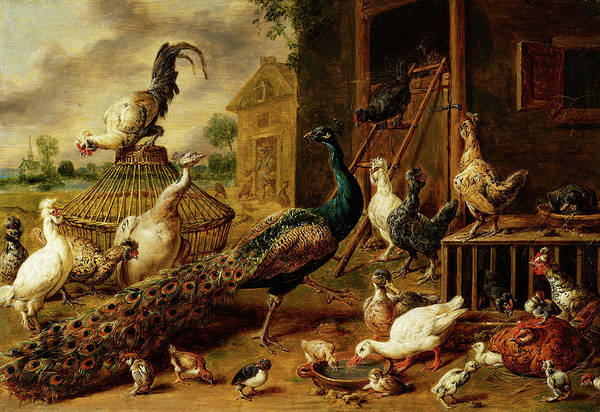 Wall Art - Painting - Poultry Farm, 1650 by Adriaen van Utrecht