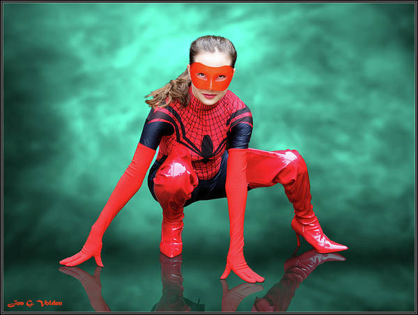 Photograph - Pouncing Spider Woman by Jon Volden