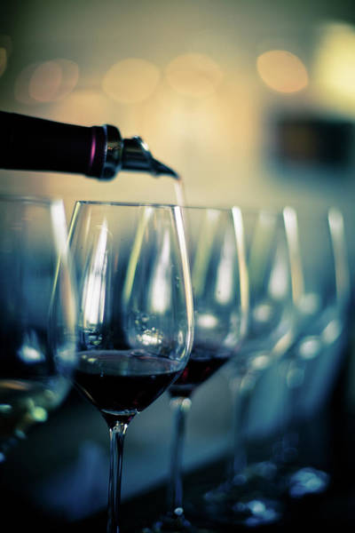 Sonoma County Photograph - Pouring Red Wine Into Glasses by Halbergman