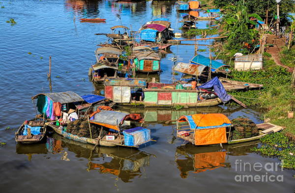 Wall Art - Photograph - Poverty Red River Vietnam  by Chuck Kuhn