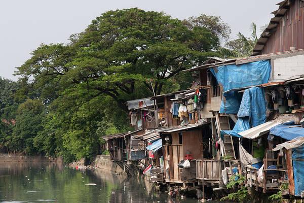 Residential Area Photograph - Poverty, Shacks Jakarta, Indonesia by Diamirstudio