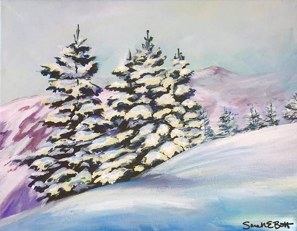 Painting - Powder Day by Sarah E Bott