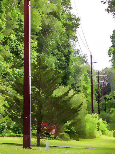 Transformer Painting - Power Lines 2 by Jeelan Clark