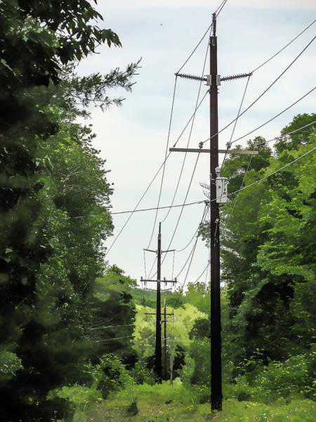 Transformer Painting - Power Lines 3 by Jeelan Clark