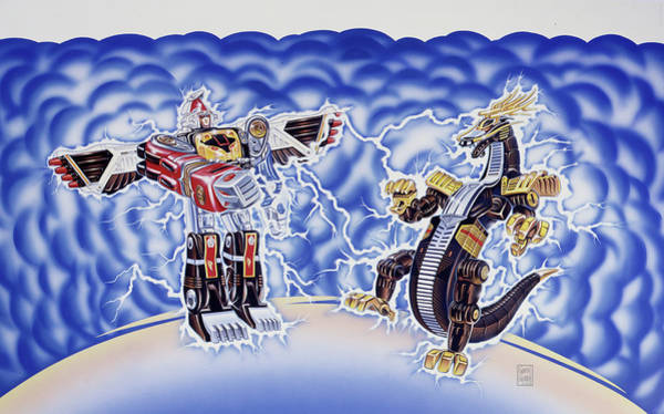 Wall Art - Painting - Power Rangers Foes by Garth Glazier