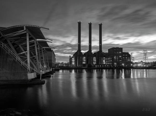 Photograph - Power Station Providence Ri II Bw by David Gordon