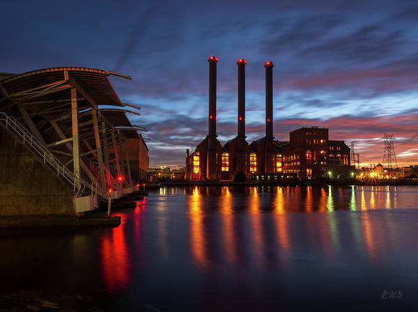 Photograph - Power Station Providence Ri II Color by David Gordon