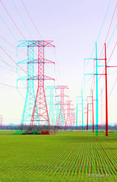 Anaglyph Photograph - Power To The People 3d Stereo by Brian Wallace
