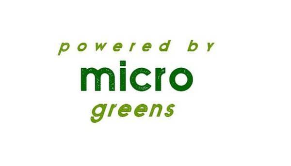 Drawing - Powered By Microgreens - Two Greens by Charlie Szoradi
