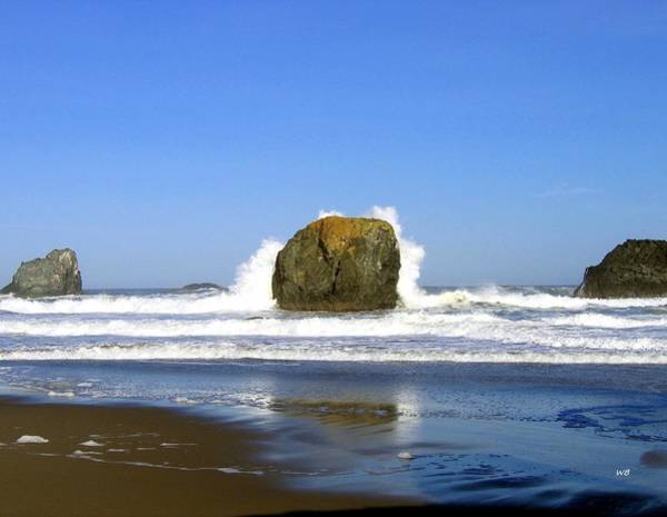 Photograph - Powerful Oregon Waves by Will Borden