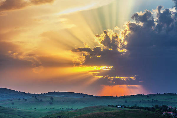 Photograph - Powerful Sunbeams by Evgeni Dinev