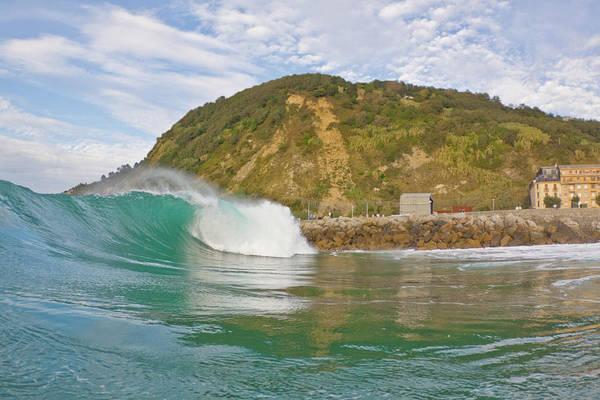 San Sebastian Photograph - Powerful Wave by Ianmcdonnell