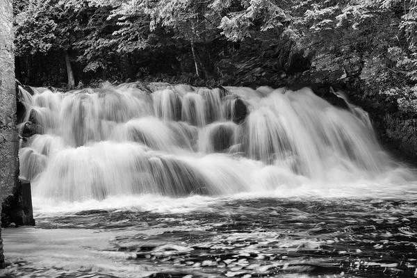 Photograph - Powerhouse Falls Black And White 71703 by Rick Veldman