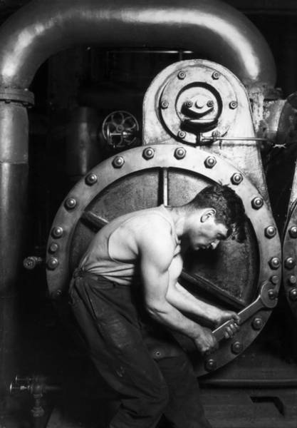 Toughness Photograph - Powerhouse Mechanic by Lewis Wickes Hine