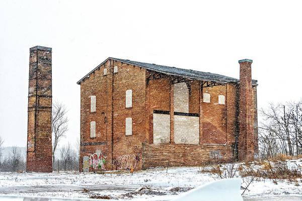 Wall Art - Photograph - Powerless Station In A Blizzard by Steve Harrington