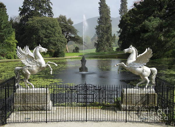 Wall Art - Photograph - Powerscourt House Terrace And Fountain by Christiane Schulze Art And Photography