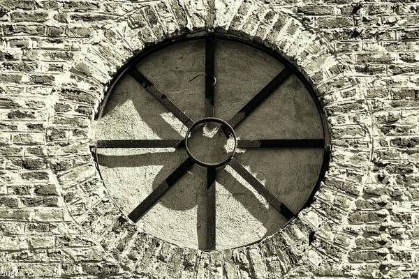 Photograph - Pon Pon Chapel Of Ease Round Windows Black And White by Lisa Wooten