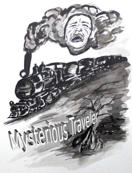 Drawing - Pra Mysterious Traveler by Clyde J Kell