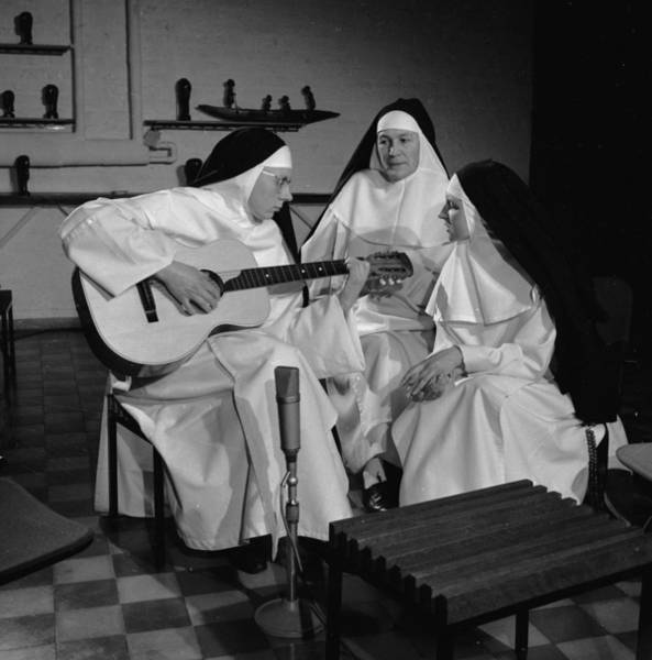Belgian Culture Photograph - Practising Nuns by Keystone Features