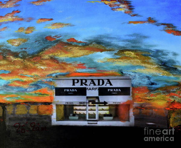 Wall Art - Painting - Prada Marfa 3 by To-Tam Gerwe