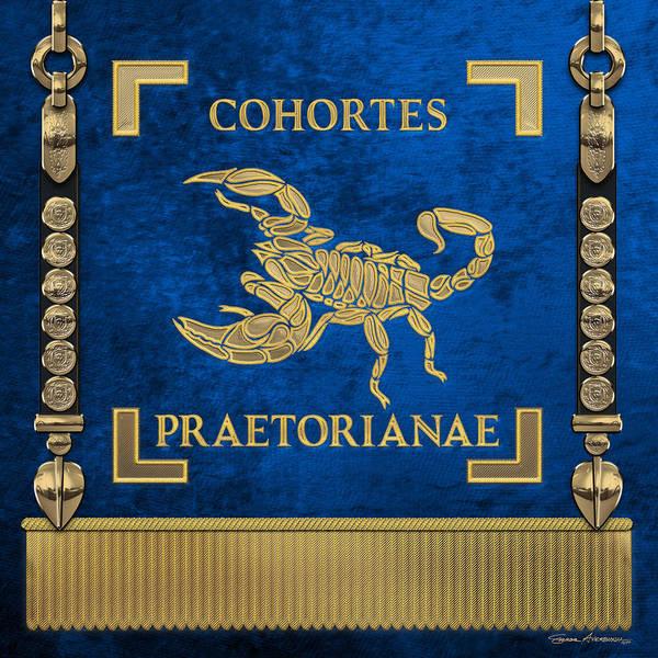 Digital Art - Praetorian Guard Standard - Vexillum Of Cohortes Praetorianae by Serge Averbukh