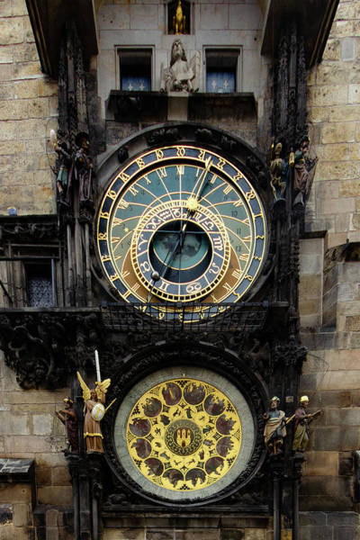 Clock Wall Art - Mixed Media - Prague Astronomical Clock by Smart Aviation