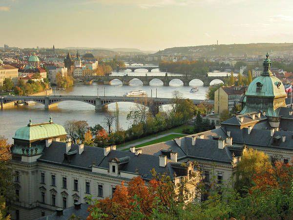 Style Photograph - Prague At Sunset by S. Greg Panosian
