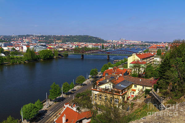 Photograph - Prague Bridges Over Vltava by Les Palenik