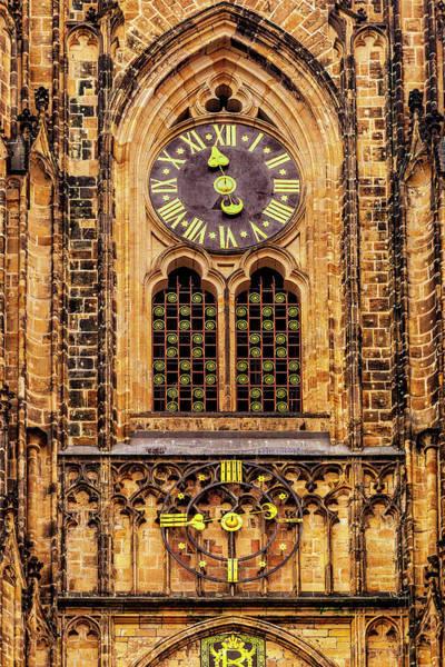 Wall Art - Photograph - Prague Church Clock by Andrew Soundarajan