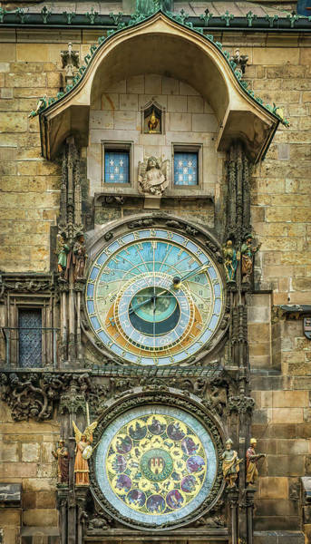 Photograph - Prague Clock by Steven Sparks