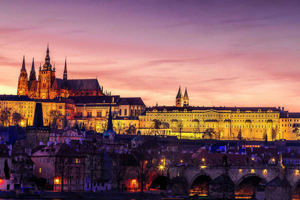 Wall Art - Photograph - Prague Lights by Andrew Soundarajan