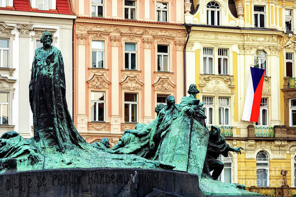 Photograph - Prague Old Town Square Colors by John Rizzuto