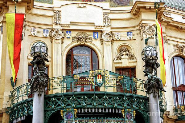 Photograph - Prague Opera House Balcony by John Rizzuto