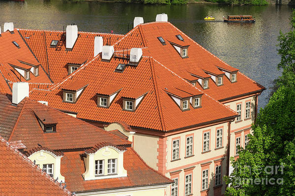 Photograph - Prague Roofs With Dormer Windows by Les Palenik
